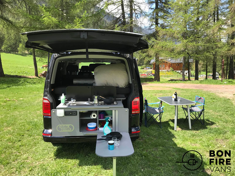 VW campervan and roof tent for hire in Europe