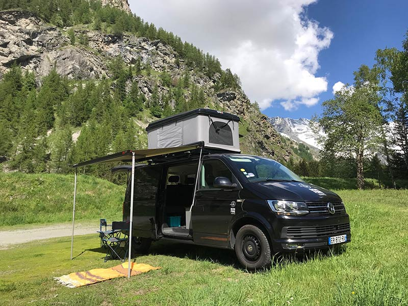 VW Campervan and Roof Tent for Hire in